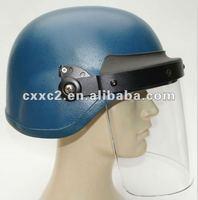 Kevlar Bulletproof Helmet with 4mm Visor for military