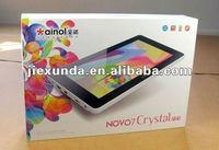 "Ainol crystal Ainol Novo 7 Crystal Dual Core 7"" IPS Android 4.1 Jelly Bean 1G/8G HDMI Camera Wifi Tablets"