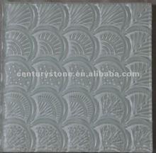 2012 New Design 3D Art Super White Crystal Glass Mosaic Design