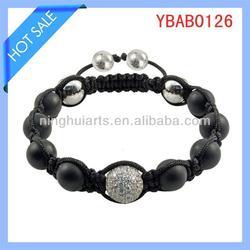 bracelet black stone bracelets fire glass crystals China Supplier
