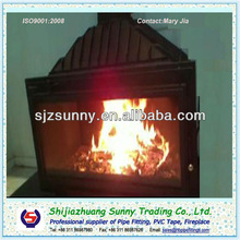 Cast Iron Wood Burning Fireplace With Glass Door