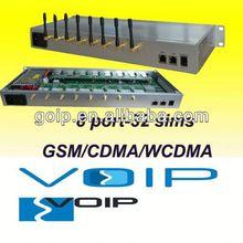 New!!!!8 channels 32 ports GSM/CDMA/WCDMA SIP gateway gateway technology industry