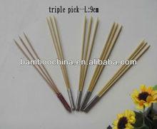 three bamboo pick/skewer/stick