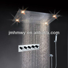 New design bathroom wall&ceiling mounted led rain shower/hand shower set