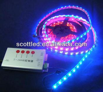 64pixel/m ws2812b ws2811 built-in 5050 ic rgb led magic strip light
