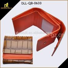 Faux leather Crocodile Pattern Tri fold Women Wallet