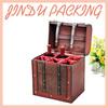 6 Bottle Packed Wooden Wine Case, Wooden Wine Carrier