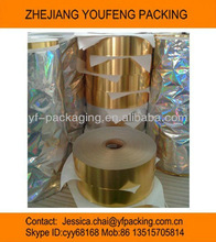 laminated compoited gold foil paper/hs code7607200000/inner liner paper for cigarette packing