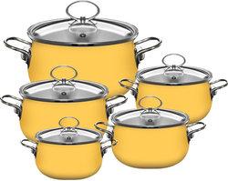Porcelain Enamel Saucepot, ceramic finish cookware soup stock pot