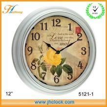 2014 retro antique time clock / digital clock / wall clock for home decoration