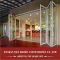 económica exterior de vidrio lowes puerta plegable de aluminio precio