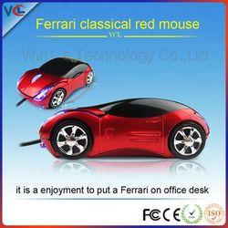 ferrari car model shaped promotion car for pc Macbook mouse