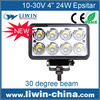 Factory Price High Bright IP67 24w outdoor led working light car sale