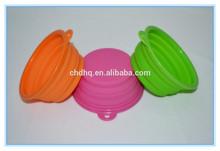Cute folding travel silicone plastic pet bowl