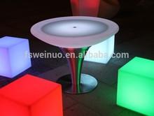 LED cube light table, chair