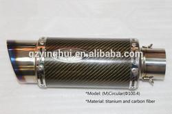 motorcycle round shape universal exhaust muffler