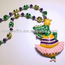 Mardi Gras Beads With Alligator