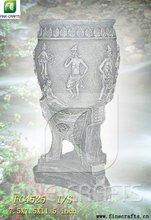 Polyresin garden statue flower vase