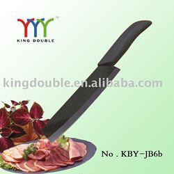 """6"""" mirror black blade zirconia ceramic kitchen knife"""