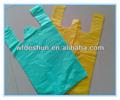 100% pead/pebd matérias-primas baratas de plástico t- shirt saco/saco de portador colete