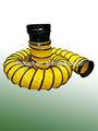 Flexible de ventilación de la manguera del conducto