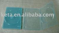 7mm Single Disk Transparent Blue Color DVD Case