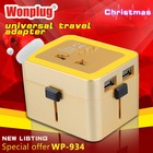 2014 Wonplug Patent 2.1A Dual USB travel adapter