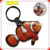 custom promotion gift light pvc led key chain