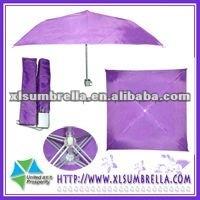 Purple manual open square patio umbrella