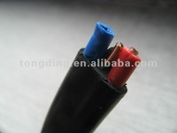 Two cores Flat Electrical Cable with Earth Wire