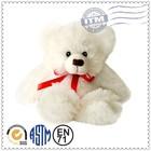 White teddy bear cheap animal plush toy, promotion plush teddy bear white