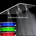 シャワーヘッドledデュアル降雨やミストシャワーヘッドステンレス鋼、 大きな304降雨dusalミストシャワーヘッドled
