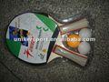 Promocional de madeira tabela raquete de tênis conjunto/bom t. T. Raquete conjunto