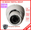 Security Camera 8mm 24pc IR Leds 1/2 MCCD 700TVL Dome Security Camera