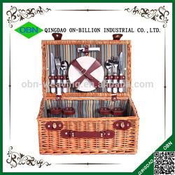 Wholesale cheap 4 person wicker picnic basket