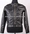 Mujeres chaqueta de cuero, negro de la moda de estilo de alta calidad de dicha cantidad