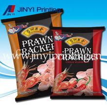 metallized film crisp packaging bag for prawn crackee