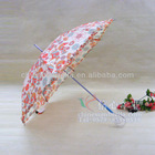 """22""""/55CM * 8 ribs straight umbrella auto open with flower lace lady's parasol XB-837"""