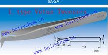 6A-SA, L Type Vetus tweezers for eyelash extension, Top quality tweezers.real Vetus brand