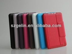 electric tension pu leather cover case for ipad mini