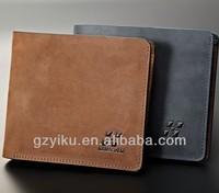 OEM leather wallet suede wallet for men