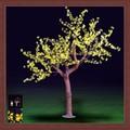 Artificial de árboles/planta decorado de la cereza del tronco de la luz led 2.2m la decoración de navidad la luz