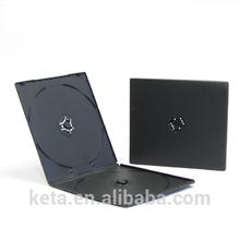 7mm Square Slim Plastic Black Double DVD PP CD Case