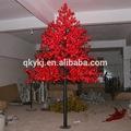 fake led de árvores de bordo iluminação fabricado em zhongshan qky artificial vermelho maple folha de árvore de natal com luzes led