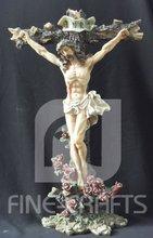 Polyresin religion Jesus crucifix cross crafts