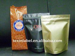 standup coffee bag, zip tea bag