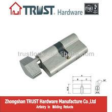 A65SN-L01:Trust Brass Mortise Turn Knob 65mm euro lock cylinder