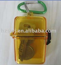 beach waterproof container/mini plastic waterproof ID holder for trravel/