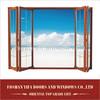 Lowes tinted glass interior outdoor sliding aluminum glass soundproof bi folding louver doors design