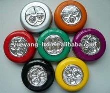 round shape Stick led light/ 3 led touch lamp/Mini Power Pod